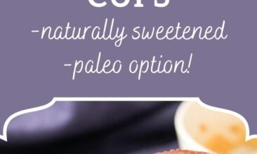 """Pinterest pin, image is of a stack of peanut butter cups on a counter. Text overlay says,"""" Homemade Peanutbutter Cups: + paleo option!"""""""