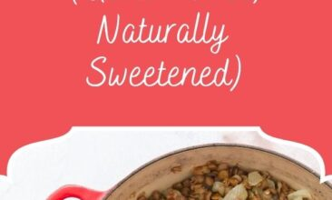 "Pinterest pin, image is of a pot filled with sweet and sour lentils. Text overlay says, ""Sweet and Sour Lentils: gluten free!"""