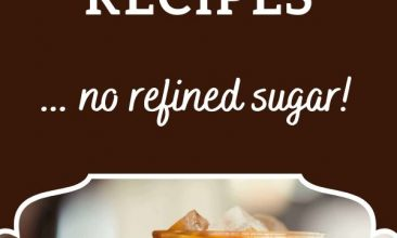 "Pinterest pin, shows iced coffee in a glass with cream that has just been poured in. Text Overlay reads ""75+ Healthy Cold Drink Recipes: No Refined Sugar!"""