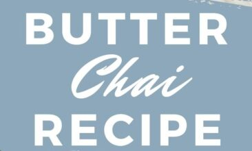 """Two images, the first a fancy teacup filled with bulletproof chai, the second is a table with ingredients like butter, coconut oil and honey. Text overlay says, """"Butter Chai Latte Recipe: Better Than Bulletproof""""."""
